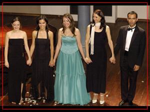 Mariana Atamás, Guadalupe Ceballos, Fiorella Spadone, María Laura Weiss y Walter Burela