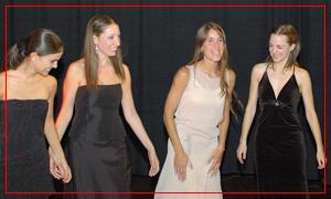 Guadalupe Ceballos, Fiorella Spadone, Agustina Bianchi y Mariana Atamás