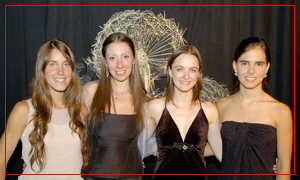 Agustina Bianchi, Fiorella Spadone, Mariana Atamás y Guadalupe Ceballos