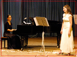 Guadalupe Ceballos (piano) y Fiorella Spadone (soprano)