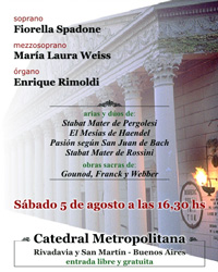 05/08/2006 - Concierto en la Catedral Metropolitana