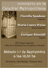 01/09/2007 - Concierto en la Catedral Metropolitana