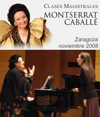 Clases Magistrales de Montserrat Caballé - Auditorio de Zaragoza - Nov.2008