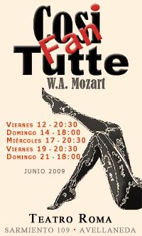 Cosi Fan Tutte - Junio 2009 - Teatro Roma de Avellaneda