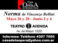Norma, Teatro Avenida, 26 y 28 Mayo - 2 y 4 de Junio 2006
