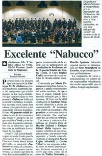 Ambito Financiero, 25/10/2007: Excelente Nabucco