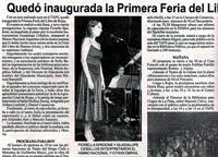 Chispa. 03/09/2009. Quedó inaugurada la Primera Feria del Libro de Rojas
