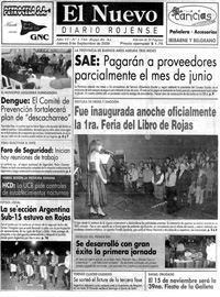 El Nuevo Diario Rojense - Tapa 03/09/2009
