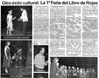 Hoy. 03/09/2009. Otro éxito cultural: La 1ra Feria del Libro de Rojas